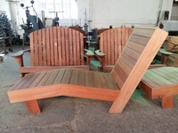 Saligna lounger, solid wood, varnished