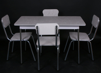 5 piece rectangle dinette table set with 4 ch